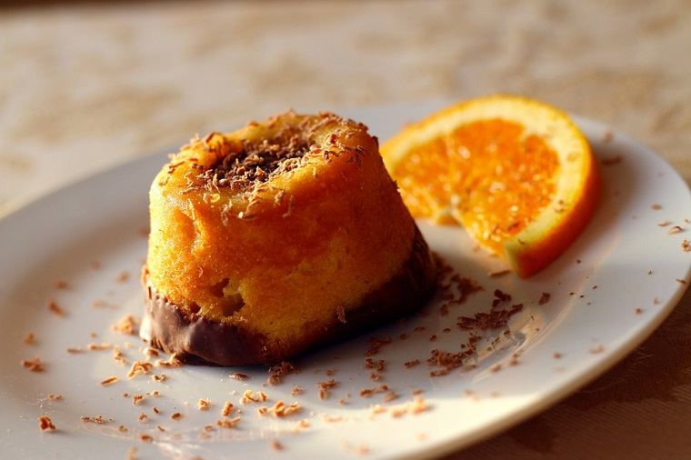 Receta postre bizcocho naranja y chocolate superalimentos leclerc