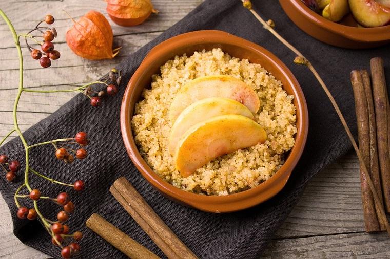 Receta postre quinoa manzana superalimentos leclerc