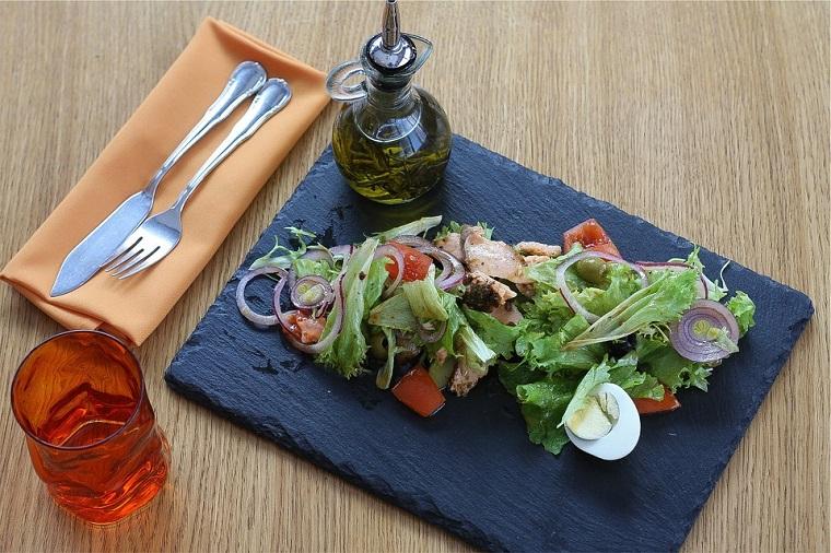 Ensalada aceite oliva virgen extra superalimentos leclerc