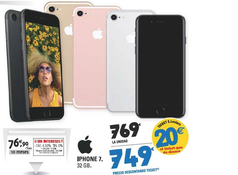Oferta iphone 7 E.Leclerc