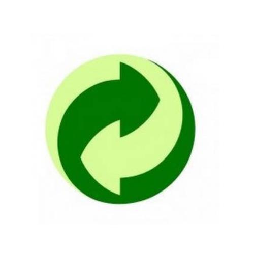 Símbolo verde reciclado productos cosméticos