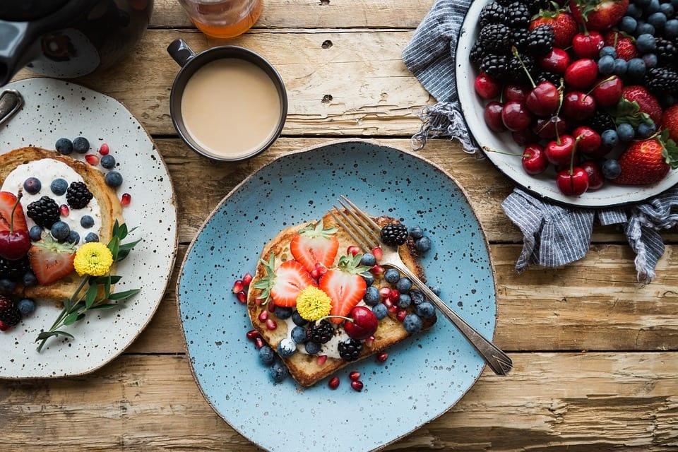 Desayunos con fresas