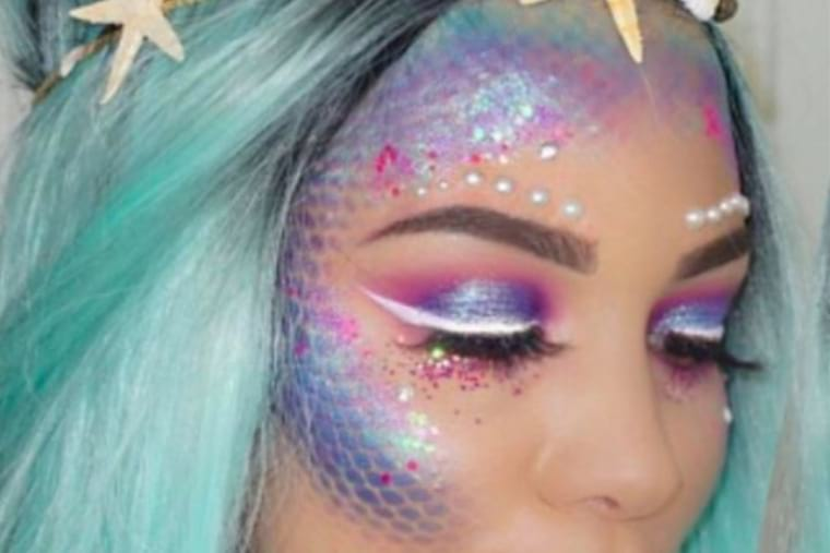 Maquillaje carnaval sirena