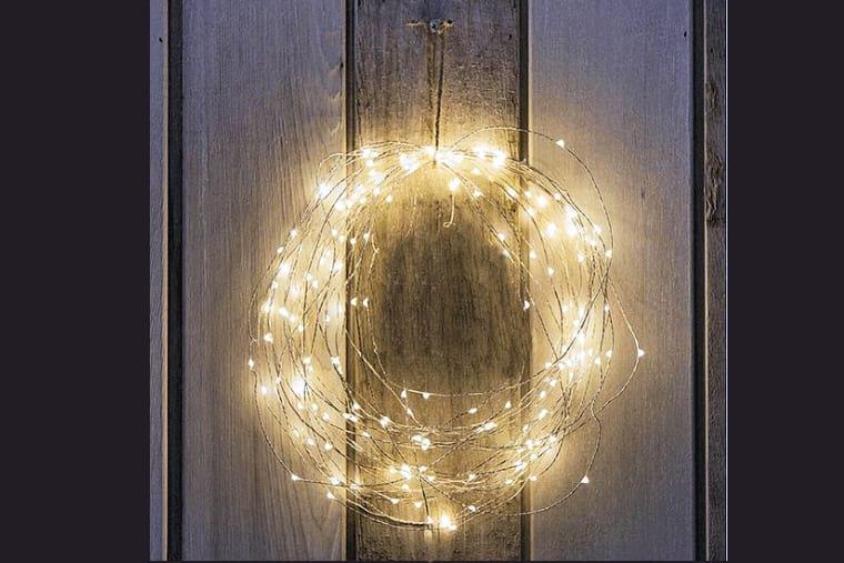 Trucos DIY corona navidad con luces