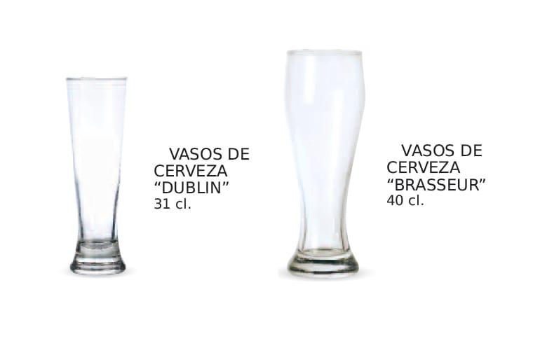 Vasos para cerveza blanca