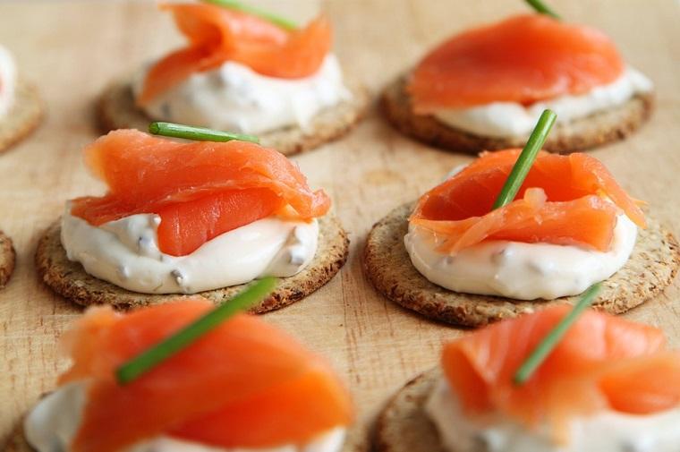 Receta con queso de untar y salmón